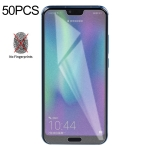 50 PCS Non-Full Matte Frosted Tempered Glass Film for Huawei Honor 10, No Retail Package