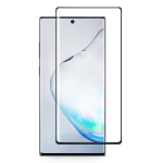 For Galaxy Note 10  0.3mm 9H Surface Hardness 3D Privacy Curved Edge Glue Curved Full Screen Tempered Glass Film, Fingerprint Unlock Is Not Supported (Black)