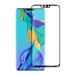For Huawei Mate 30 Pro  0.3mm 9H Surface Hardness 3D Curved Edge Glue Curved Full Screen Tempered Glass Film(Black)