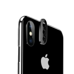 Titanium Alloy Metal Camera Lens Protector Tempered Glass Film for iPhone XS Max (Black)