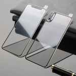 Titanium Alloy Edge Full Coverage Front + Back Tempered Glass Screen Protector for iPhone XS Max (Black)