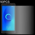 50 PCS 0.26mm 9H 2.5D Tempered Glass Film for Alcatel 3