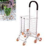 Multi-function Portable Foldable Aluminum Alloy Luggage Truck Hand Cart Shopping Small Trolley Case