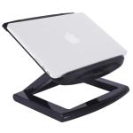 ROOSTAND Aluminum Alloy Laptop Height Extender Holder Stand Folding Portable Computer Heat Dissipation Bracket, Size: 28×29.6cm (Black)