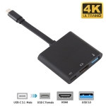 V125 UCB-C / Type-C Male to PD +  HDMI + USB 3.0 Female 3 in 1 Converter
