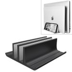Universal Portable Aluminum Alloy Double Slot Laptop Vertical Storage Stand(Black)
