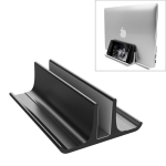 Universal Portable Aluminum Alloy Single Slot Width Adjustable Laptop Vertical Radiating Storage Stand Base(Black)