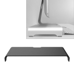Universal Aluminum Alloy Single-layer Laptop Stand with Storage Function, Size: 50 x 22 x 8cm, Thickness: 5mm (Black)