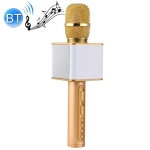 SDRD SD-08 Double Speakers High Sound Quality Handheld KTV Karaoke Recording Bluetooth Wireless Condenser Microphone(Gold)