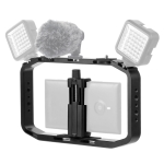 PULUZ Handheld Video Rig Filmmaking Vlogging Cage Holder for DJI Osmo Action, GoPro NEW HERO /HERO7 /6 /5 /5 Session, Micro SLR  and Other Action Cameras