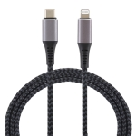1m USB-C / Type-C to 8 Pin Nylon Braided Data Sync Fast Charging Cable