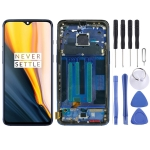 AMOLED Material LCD Screen and Digitizer Full Assembly with Frame for OnePlus 7(Blue)