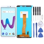 LCD Screen and Digitizer Full Assembly for Wiko Y80 (White)