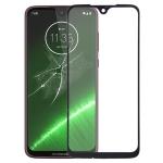 Front Screen Outer Glass Lens for Motorola Moto G7 Plus(Black)