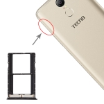 SIM Card Tray + SIM Card Tray for Tenco pouvoir 2 LA7 / pouvoir 2 Pro LA7 Pro (Black)