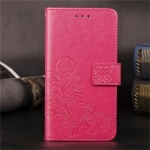 For Huawei Mate 30 Lite / Nova 5i Pro Lucky Clover Pressed Flowers Pattern Leather Case , with Holder & Card Slots & Wallet & Hand Strap(Rose)