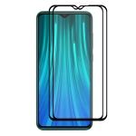 2 PCS ENKAY Hat-prince Full Glue 0.26mm 9H 2.5D Tempered Glass Full Coverage Film for Xiaomi RedmiNote 8 Pro