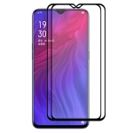 2 PCS ENKAY Hat-prince Full Glue 0.26mm 9H 2.5D Tempered Glass Full Coverage Film for OPPO Reno Z / Realme X Lite / R17