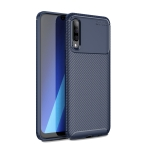 For Galaxy A50s Carbon Fiber Texture Shockproof TPU Case(Blue)