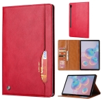For Galaxy Tab S6 / T860 /T865 Knead Skin Texture Horizontal Flip Leather Case , with Photo Frame & Holder & Card Slots & Wallet(Red)