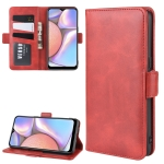 For Galaxy A10s Dual-side Magnetic Buckle Horizontal Flip Leather Case with Holder & Card Slots & Wallet & Photo Frame(Red)
