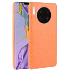 For Huawei Mate 30 Shockproof Crocodile Texture PC + PU Case(Orange)