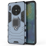 For Huawei Mate30 PC + TPU Shockproof Protective Case with Magnetic Ring Holder(Navy blue)