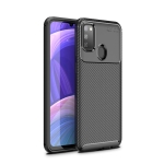 For Galaxy M30s Beetle Series Carbon Fiber Texture Shockproof TPU Case(Black)