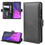For Motorola One Zoom Wallet Stand Leather Cell Phone Case with Wallet & Holder & Card Slots(Black)