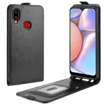 For Galaxy A10s Crazy Horse Vertical Flip Leather Protective Case(Black)