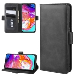 For Galaxy A20s Wallet Stand Leather Cell Phone Case with Wallet & Holder & Card Slots(Black)
