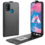 For Galaxy M30s Crazy Horse Vertical Flip Leather Protective Case(Black)