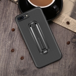 For  iPhone 6 Carbon Fiber Stealth Support TPU Mobile Shell(Black)