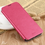 For Oneplus 6 MOFI Rui Series Classical Leather Flip Leather Case With Bracket Embedded Steel Plate All-inclusive(Red)