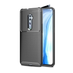 For OPPO Reno2 Carbon Fiber Texture Shockproof TPU Case(Black)