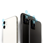 For iPhone 11 Pro Max 2PCS mocolo 0.15mm 9H 2.5D Round Edge Rear Camera Lens Tempered Glass Film