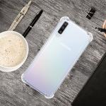 For Galaxy A70 Four-Corner Anti-Drop Ultra-Thin Transparent TPU Phone Case(Transparent)
