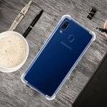 For Galaxy A30 Four-Corner Anti-Drop Ultra-Thin Transparent TPU Phone Case(Transparent)