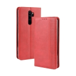 For Xiaomi Redmi Note 8 Pro Magnetic Buckle Retro Crazy Horse Texture Horizontal Flip Leather Case with Holder & Card Slots & Photo Frame(Red)