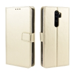 For Xiaomi Redmi Note 8 Pro Retro Crazy Horse Texture Horizontal Flip Leather Case with Holder & Card Slots & Photo Frame(Gold)