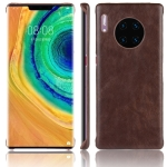 For Huawei Mate 30 Pro Shockproof Litchi Texture PC + PU Case(Brown)