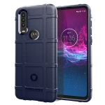 For  Moto One Action Full Coverage Shockproof TPU Case(Blue)