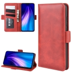 For Redmi Note 8 Wallet Stand Leather Cell Phone Case with Wallet & Holder & Card Slots(Red)