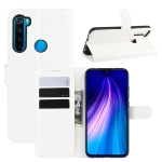 For Xiaomi Redmi Note 8 Litchi Texture Horizontal Flip Leather Case with Wallet & Holder & Card Slots(White)