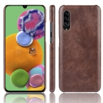 For Galaxy A90 5G Shockproof Litchi Texture PC + PU Case(Brown)