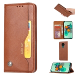 For Huawei Nova 5i Pro / Mate 30 Lite  Knead Skin Texture Horizontal Flip Leather Case with Photo Frame & Holder & Card Slots & Wallet(Brown)