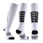 Unisex Sports Stockings Running Cycling Socks Compression Socks, Color:White, Size:S / M