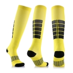 Unisex Sports Stockings Running Cycling Socks Compression Socks, Color:Yellow, Size:L / XL