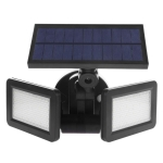 Double Flat Spotlight 48 LED Waterproof PIR Motion Sensor Solar Light