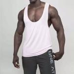 Loose Sports Vest Sleeveless Running Basketball Clothing for Men, Size:L(White)